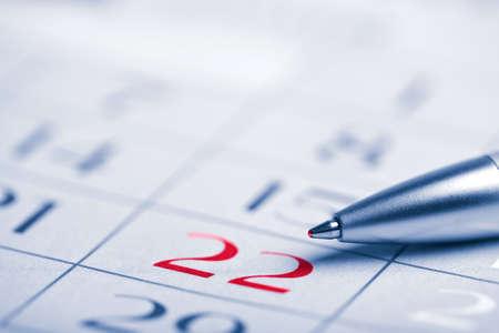 school agenda: de cerca el calendario de la página