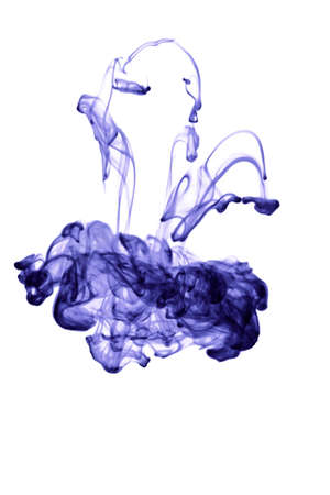 abstract ink in water isolated photo