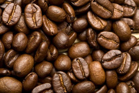 roasted coffee beans background Stock Photo