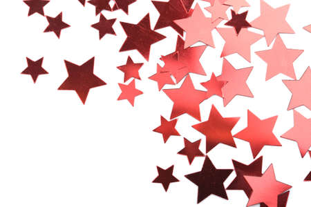 happening: holiday red stars isolated