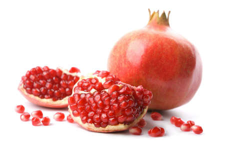 pomegranate juice: perfect pomegranate isolated