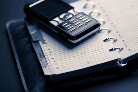 communicative: organizer and mobile phone