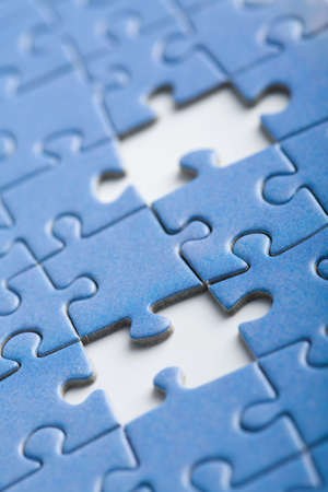 abstract puzzle background with two missing pieces Stock Photo - 4646711