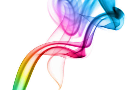 abstract rainbow smoke background photo
