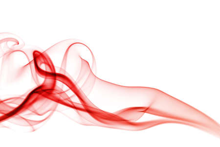 abstract red smoke woman photo