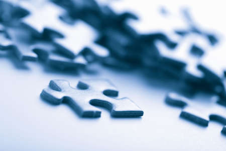 blue puzzle pieces Stock Photo - 4672840
