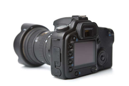 cmos: black DSLR camera isolated