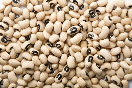 haricot: white haricot beans background Stock Photo