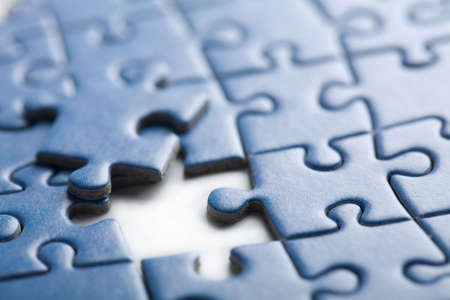 abstract puzzle background with one piece missing  Stock Photo - 4692615