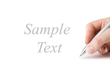 hand writing isolated photo