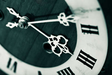 numerical: antique looking clock dial Stock Photo