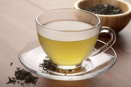 cup of green tea Stock Photo - 4775962