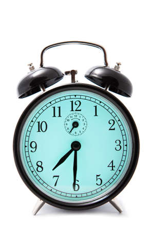 alarm clock isolated over white photo