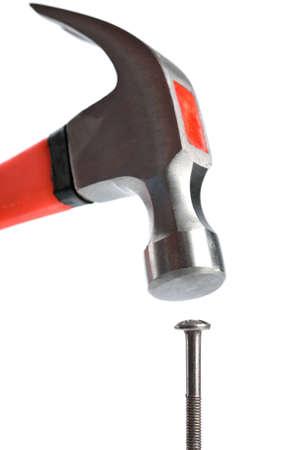leverage: martillo y clavos aislados