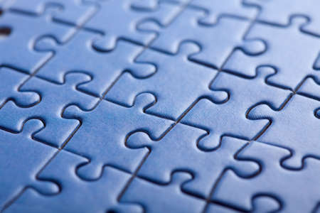 abstract blue puzzle background  Stock Photo