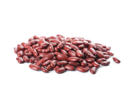 haricot: red haricot beans isolated Stock Photo