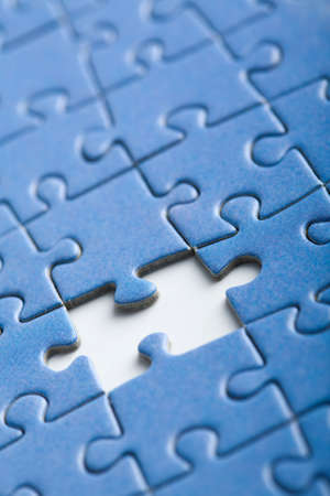 abstract puzzle background with one piece missing Stock Photo - 5053580