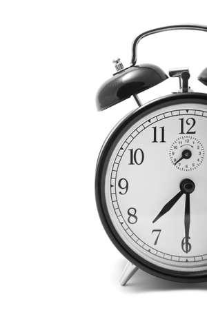 deadline: alarm clock isolated over white