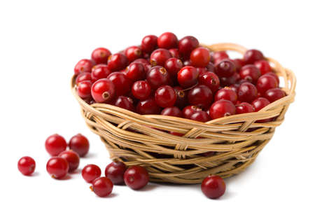 ripe cranberries isolated photo