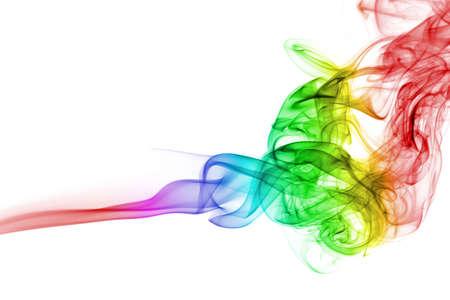 abstract rainbow smoke background isolated Stock Photo - 5498965