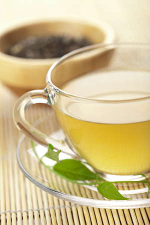 cup of green tea Stock Photo - 5690796
