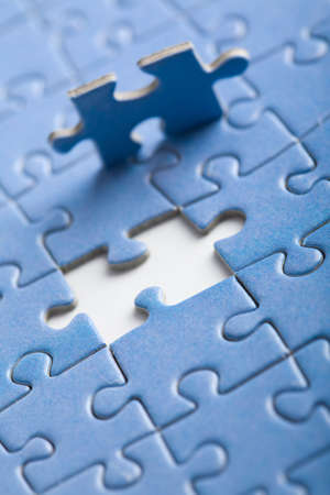 abstract puzzle background with one piece missing Stock Photo - 5690818