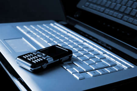 laptop and mobile phone Stock Photo - 5705394