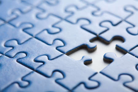 abstract puzzle background with one piece missing Stock Photo - 6035716