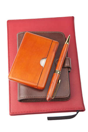 organizer pen and diary photo