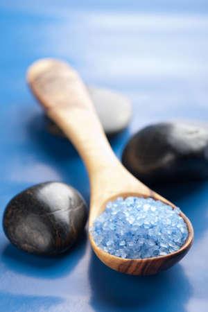 herbal salt and spa stones  photo