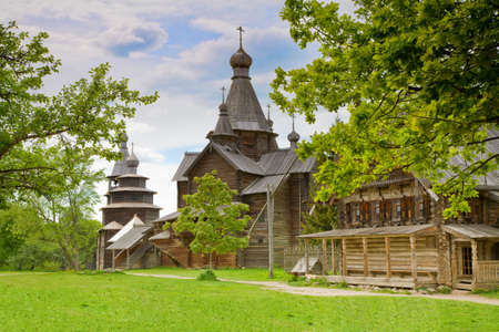 wooden orthodox church photo