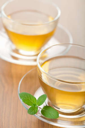 green tea with mint Stock Photo - 6838574