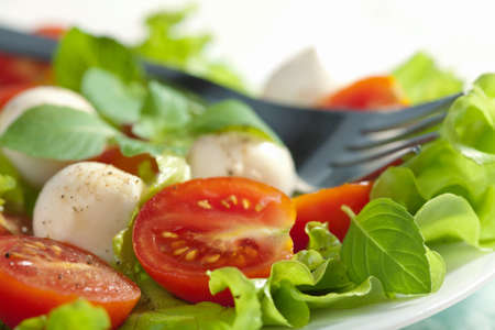 salad with tomatoes and mozzarella  photo