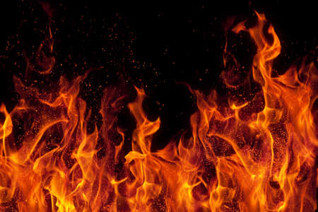fire isolated over black background Stock Photo - 7337192