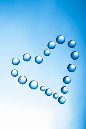 heart of water drops photo