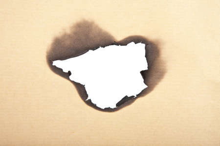 burnt paper background isolated  photo