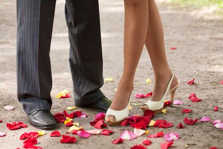 legs over petals photo
