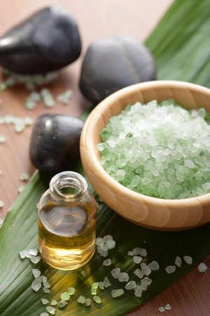 herbal salt and oil photo