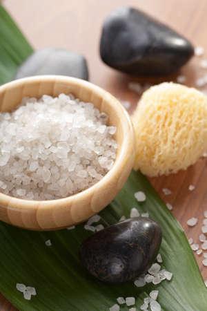 stone bowl: herbal salt and spa stones