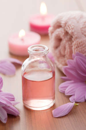 essential oil and flowers  photo