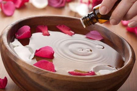 huile essentielle pour l'aromathérapie Banque d'images
