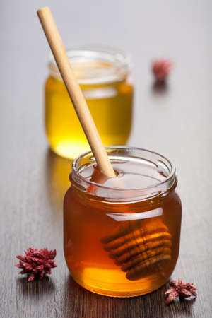 honey in jars photo
