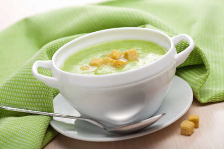 creamy vegetable soup  photo