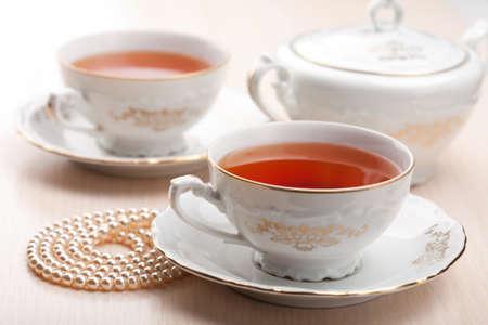 tea in elegant cups photo
