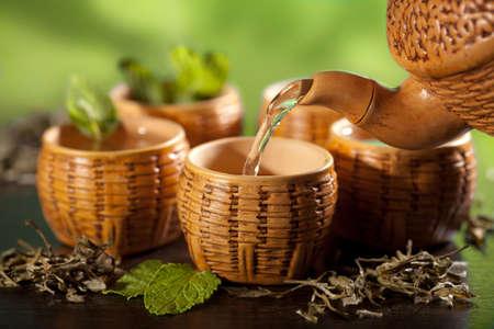Grüner Tee Standard-Bild