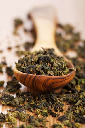 dry green tea Stock Photo - 8459707