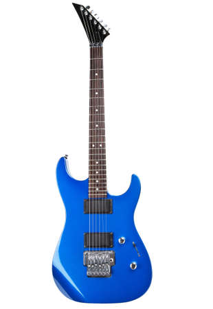 electric blue: electric guitar isolated