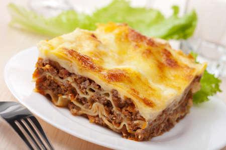 lasagna: Lasa�a bolo�esa Foto de archivo