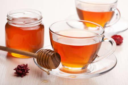 tea with honey photo