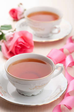 tea in elegant cups  photo
